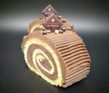 Bûche tradition au chocolat